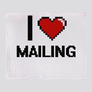 I Love Mailing Throw Blanket