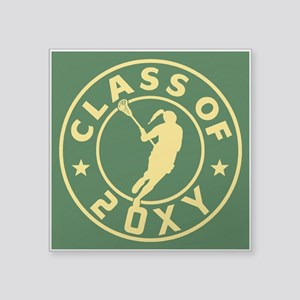 "Class of 20?? Girl Lacrosse Square Sticker 3"" x 3"""