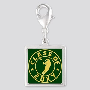 Class of 20?? Girl Lacrosse Silver Square Charm