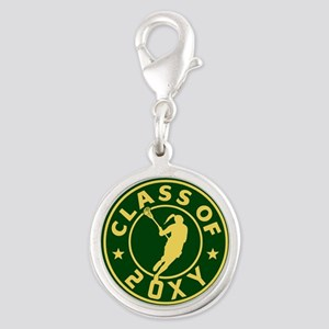 Class of 20?? Girl Lacrosse Silver Round Charm