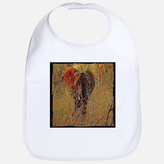 wildlife art african elephant Bib