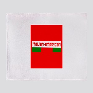 Tricolore Red Italian American Domin Throw Blanket