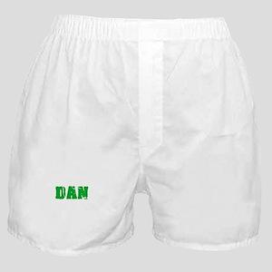 Dan Name Weathered Green Design Boxer Shorts