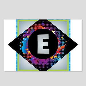 E - Letter E Monogram - B Postcards (Package of 8)
