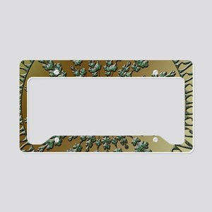 Beautiful green ornament License Plate Holder