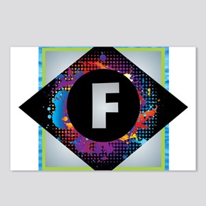 F - Letter F Monogram - B Postcards (Package of 8)