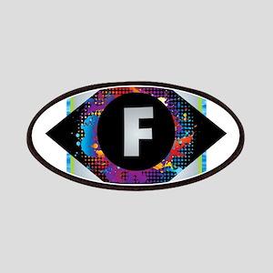 F - Letter F Monogram - Black Diamond F - Le Patch