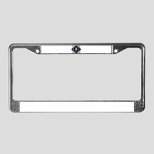 F - Letter F Monogram - Black License Plate Frame