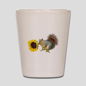 Squirrel Sunflower Shot Glass