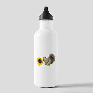 Squirrel Sunflower Water Bottle
