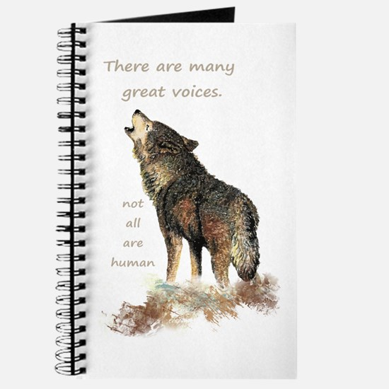 Many Great Voices Inspirational Wolf Quote Journal