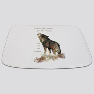 Many Great Voices Inspirational Wolf Quote Bathmat
