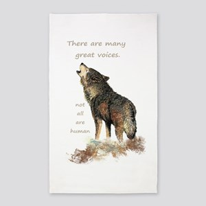 Many Great Voices Inspirational Wolf Quote Area Ru