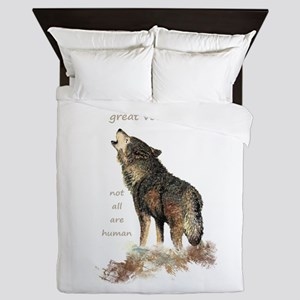 Many Great Voices Inspirational Wolf Queen Duvet