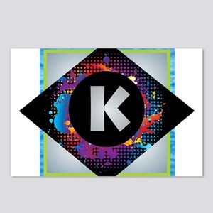 K - Letter K Monogram - B Postcards (Package of 8)