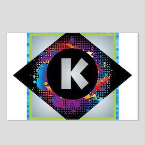K - Letter K Monogram - B Postcards (Package of 8)