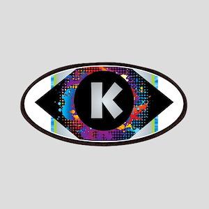 K - Letter K Monogram - Black Diamond K - Le Patch
