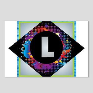 L - Letter L Monogram - B Postcards (Package of 8)
