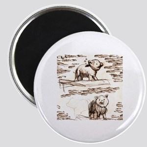 Piggy Bank Toile Magnet