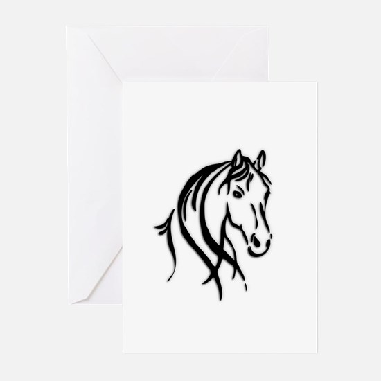 Black Horse Greeting Cards