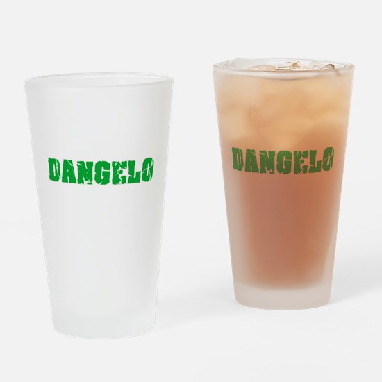 Dangelo Name Weathered Green Design Drinking Glass