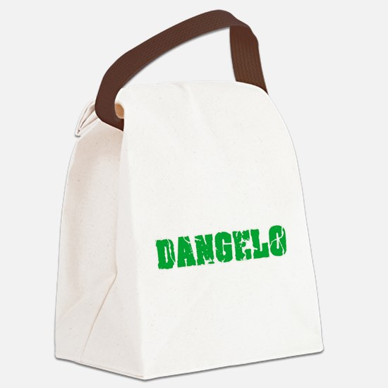 Dangelo Name Weathered Green Desi Canvas Lunch Bag
