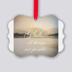 All Things Are Possible Picture Ornament