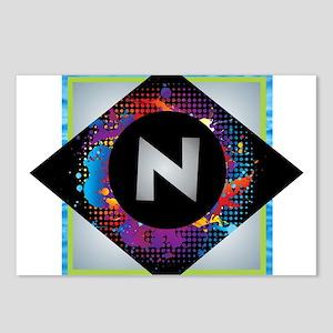 N - Letter N Monogram - B Postcards (Package of 8)