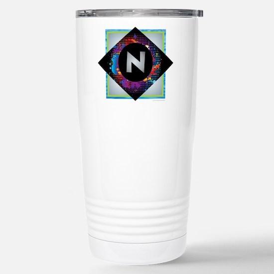 N - Letter N Monogram - Stainless Steel Travel Mug