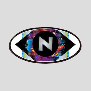 N - Letter N Monogram - Black Diamond N - Le Patch