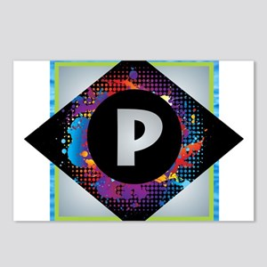 P - Letter P Monogram - B Postcards (Package of 8)