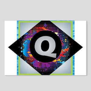 Q - Letter Q Monogram - B Postcards (Package of 8)