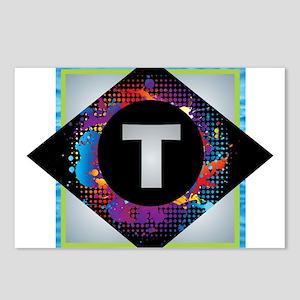 T - Letter T Monogram - B Postcards (Package of 8)