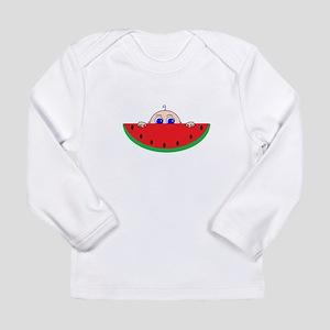 Watermelon Baby Peeking Long Sleeve T-Shirt