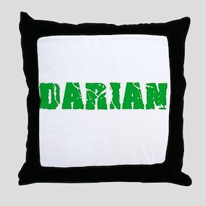 Darian Name Weathered Green Design Throw Pillow