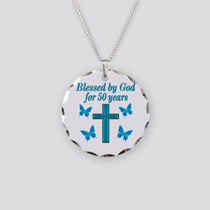 50TH LOVING GOD Necklace Circle Charm
