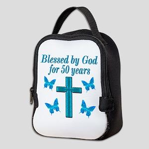 50TH LOVING GOD Neoprene Lunch Bag