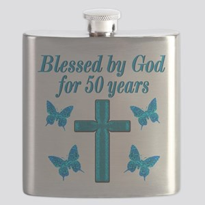 50TH LOVING GOD Flask