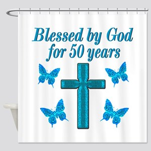 50TH LOVING GOD Shower Curtain
