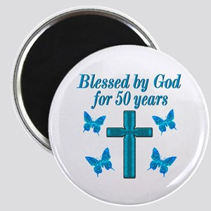 50TH LOVING GOD Magnet