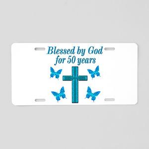 50TH LOVING GOD Aluminum License Plate