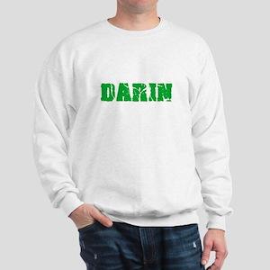 Darin Name Weathered Green Design Sweatshirt