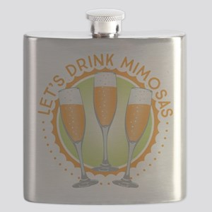 Let's Drink Mimosas Flask