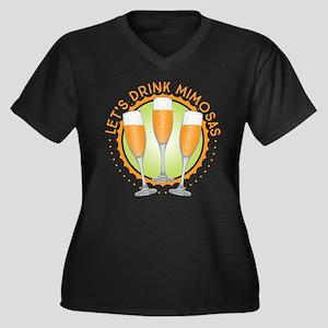 Let's Drink Mimosas Plus Size T-Shirt