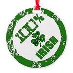 Irish Pride Round Ornament