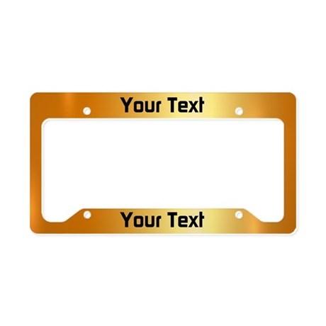 Custom Gold License Plate Holder  sc 1 st  CafePress & Custom License Plate Frames - CafePress