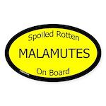 Spoiled Malamutes On Board Oval Sticker