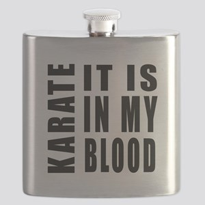 Karate it is in my blood Flask