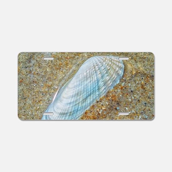 Angelwing Seashell Aluminum License Plate