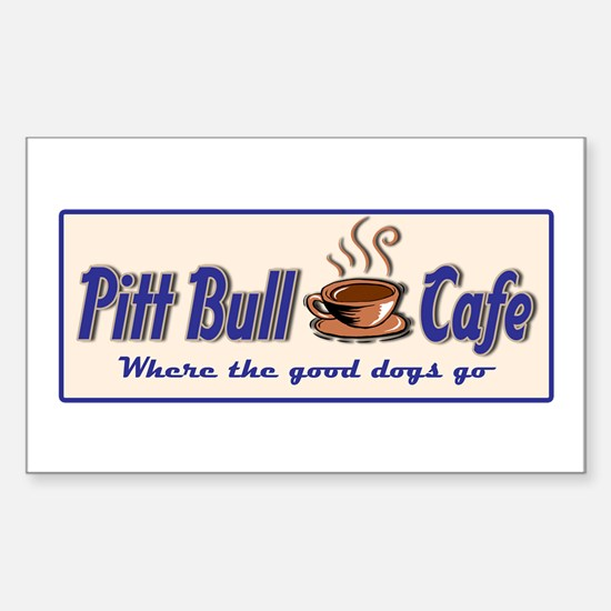 Pitt Bull Cafe Rectangle Decal